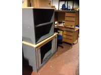 Desk Height Tambour Unit