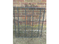 Black heavy-duty iron,steel gate