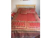 Luxury Indian silk duvet cover, pillow and cushion set