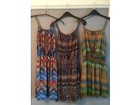 3 summer dresses size 10