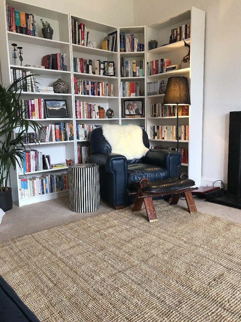 Stylish jute area rug