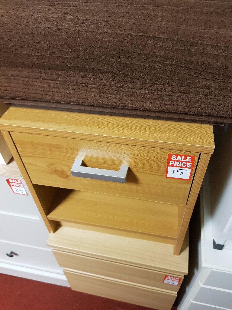 1 drawer bedside - Oak effect