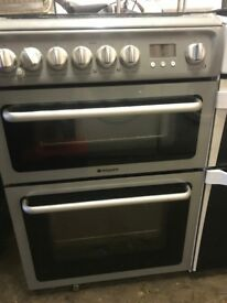 HOTPOINT GAS COOKER -GREY