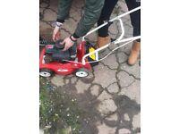 Emblem petrol lawnmower