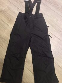 Trespass Ski Trousers (Black) great condition aged 3-4 years