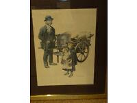 Ronald Embleton vintage print in metal and glass frames