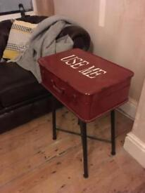 Vintage metal side table