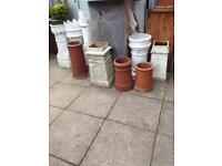 Large choice of Chimney pots Terracotta
