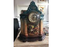 Classic French clock on glazed porcelain