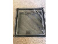 x8 Vetra Glass Blocks - Diagonal Grey 19x19x8cm Plus Adhesives & Grout. NEW