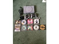 PlayStation 1 console with 2 controllers