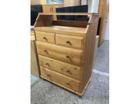 Pine bureau with drawers