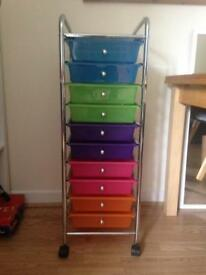 Drawers on castors