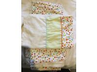 Toddler bed size duvet cover and matching pillow case