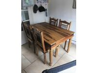 Jali dining table and 4 chairs