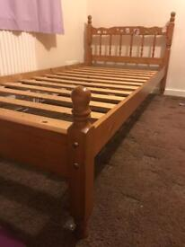 Pine Singh bed with mattress