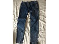 River island stretch skinny jeans 28/30