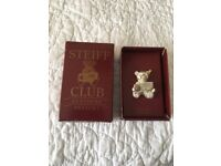 Steiff Club Bear Broach 1992-3 Sterling Silver Boxed