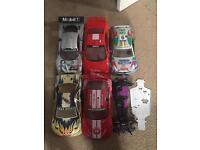 RC / NITRO CAR SHELLS AND 2 CHASIS