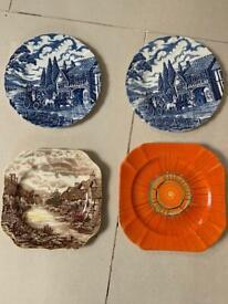 Antique plates Myott Royal Mail Blue&white. plates.