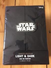 Disney Star Wars Gift Set 50ml Dark & 50ml Light Eau De Parfum Limited Edition Cost £30