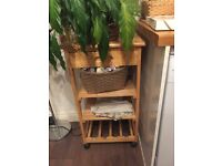 Kitchen trolley with wine track