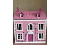 Wooden Dolls House with Furniture / Accessories