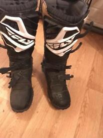 Motor cross boots size 9