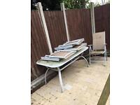 Garden table set 4 chairs