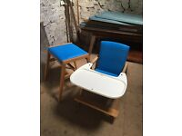 Retro high chair / also converts into small table and chair