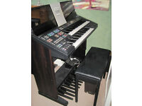 Yamaha Electone HS-7 electronic organ full working order, including stool