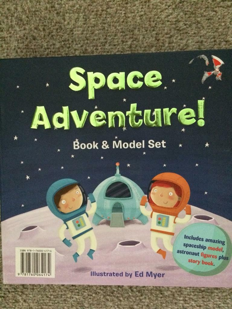 Space adventure model and book