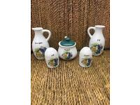 Painted condiments pottery collection