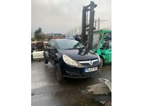 BREAKING 2007 Black Vauxhall Corsa d 3 door