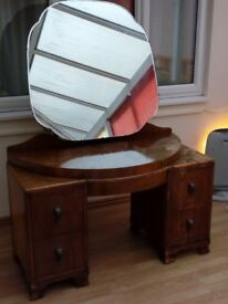VINTAGE 1940'S DRESSING TABLE - SHABBY CHIC PROJECT - RETRO - DESK