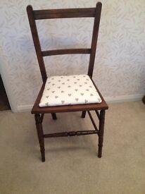 Vintage bedroom or dining chair