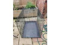 Large metal dog cage