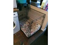 Large black metal dog crate 1yo excellent condition