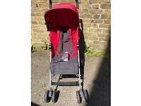 Mamas and Papas Swirl Pushchair in red with rain cover