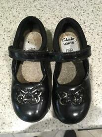 Girls Clarks shoes - 9F