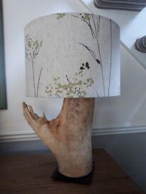 Handmade Driftwood Table Lamp