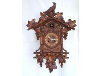 ANTIQUE BEHA / KETTERER 112 BLACK FOREST DOUBLE FUSEE CUCKOO CLOCK