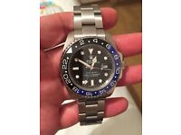Rolex GMT Master 2 Blue Black Bezel Swiping Dial Brand New