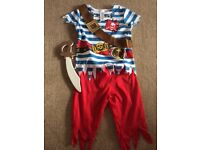 Boys age 3-4 Jake and the neverland pirates fancy dress