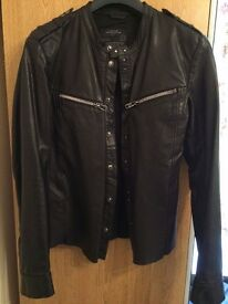 All Saints Leather 'Rebell' Jacket. 'As new' condition.