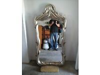 very large sliver gilded mirror