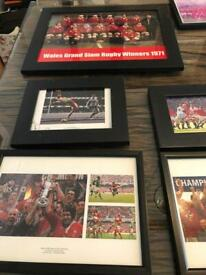 X12 framed welsh rugby pictures