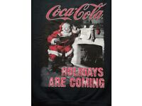 """BNWT Black """"Holidays are coming"""" Christmas Sweater Size S"""