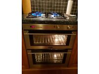 Belling electric undercounter double oven. Belling gas hob.