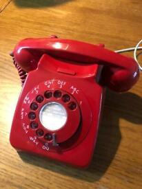 BT Red retro phone. 8746G